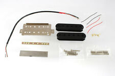 NEW Neck Humbucker PICKUP KIT for Gibson & Fender Guitars Guitar Wiring Black