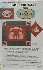 Country Appliques Bears Christmas CA-27 Machine or Hand Quilting New Unused 1984