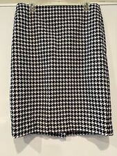Talbots Black And White Houndstooth Pencil Skirt Size 10