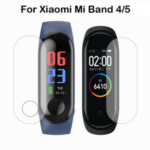5PCS For Xiaomi Mi Band 4 5 3D HD TPU Full Cover Tempered Screen Protector Film