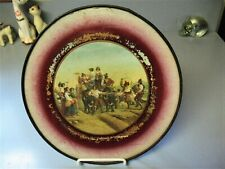 Unique Antique Round Chimney Flue Cover, Group Dancing & Celebrating Harvest