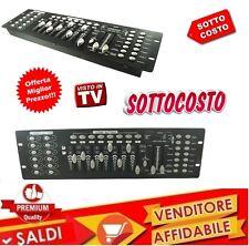 CONTROLLO DMX 512 LUCI MIXER CONTROLLER LUCI DISCO EFFETTO DJ DISCO 192 ch NEW