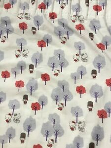 HELLO KITTY (LONDON DESIGN) SANRIO LINED CURTAINS - 160cm Wide x 183 cm Long