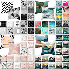 Geometric Pattern Cushion Covers Pillow Case Throw Waist Home Bedroom Sofa Decor