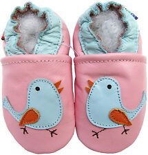 carozoo bird pink 0-6m new soft sole leather baby shoes