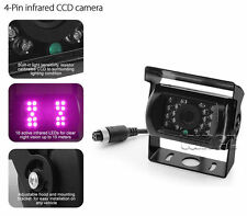 4Pin Bus Trailer CCD IR Night Vision Car Rear View Reverse Camera Truck 12V-24V