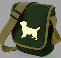 Cairn Terrier Dog Bag Reporter Shoulder Dog Walkers Bags Terrier Birthday Gift