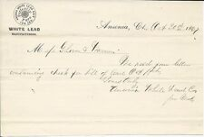 1867 Ansonia CT Ansonia White Lead Co Mfrs Letterhead