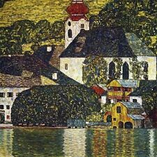"Gustav Klimt, ""Church at Unterach on the Attersee"",  giclee open edition print"