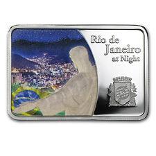 2015 Samoa Silver Rio de Janeiro at Night Coin Bar Proof - SKU #91037