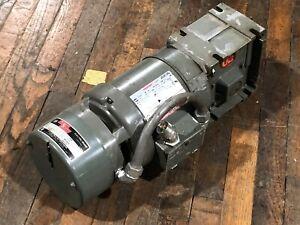 US Motors F046A Gear Motor Speed Reducer Torqube QC  25.1 Ratio Shur Stop