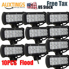 10X 7inch 36W Flood Led Light Bar Work Driving Boat Fog Off Road Truck SUV 4WD