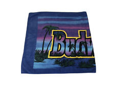 "Rare Vintage Budweiser Beach Towel - Palm Trees 54"" x 28"" - Retro Multicolor"