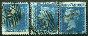 (917)  VERY GOOD USED SG45 QV 2d BLUE PLATES 7 & 9 PLUS PLATE 8 WITH TEAR