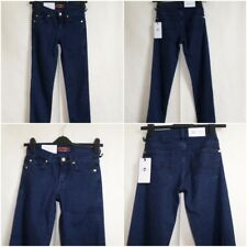 "For All 7 MANKIND W 24"" L30"" UK 4-6 Skinny silk touch blue Jeans  Navy BNWT AUTH"