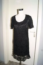 OUi Kleid Gr. 38 OUISET SET schwarz Abendkleid Spitzenkleid Spitze NEU