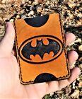 Handmade MINUS Minimalist Leather Wallet Tan Batman