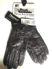 NEW LADIES BOW LEATHER LARGE TOUCH SCREEN THERMAL GLOVES WINTER SNOW HOT COLD