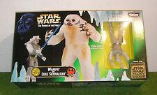 STAR WARS THE POWER OF THE FORCE WAMPA & LUKE SKYWALKER 3.75 INCH SCALE