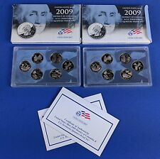 2009-S UNITED STATES MINT DC & TERRITORIES QUARTER PROOF SET * 6 QUARTERS *