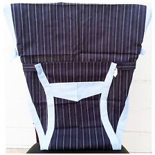 New Portable Baby Chair/High Chair Harness, Black with stripes
