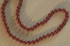 8MM Rich Red South Sea Shell Pearl Necklace NEW (silk gift bag) A12
