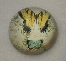 """Butterfly Paper Weight Butterflies New Postcard Design 3"""" Diameter Yellow"""