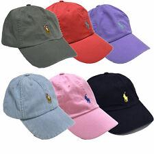 Polo Ralph Lauren Ball Cap Hat Mens Pony Logo Baseball One Size Adjustable New