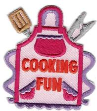 girl boy cub COOKING FUN Patches Crests Badge SCOUT GUIDES Chef Eating Cook Off