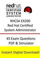 RHCSA EX200 Red Hat Certified System Administrator Exam (45q PDF Sim>Email)