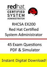 RHCSA EX200 Red Hat Certified System Administrator Exam (45q PDF Sim>Email)