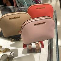 Michael Kors Medium Large Makeup Cosmetic Leather Travel Case Pouch Bag Choose