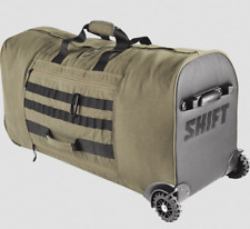 SHIFT MX FATIGUE GREEN OFF ROAD ROLLER GEAR BAG HEAVY CANVAS STORAGE DIRT BIKE