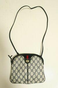 Authentic Vintage Gucci Canvas PVC Shoulder bag Crossbody Pouch #8181