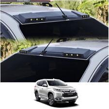 Front Leds Roof Gap Spoiler Black For Mitsubishi Pajero Montero Sport 2016 - 17
