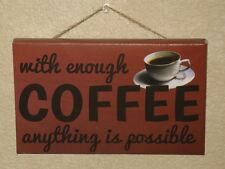 "NEW - Art Frames Decor, 5"" X 8"" X 3/4"", With Coffee Anything is Possible"