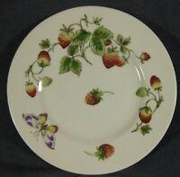 "Coalport Strawberry Salad Plate 8 1/8"" (Smooth) Bone China England Butterflies"