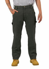 Pantaloni da uomo Verde in cotone a gamba dritta