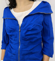 Joseph Ribkoff Women's Jacket Blue Zip Up Size 14