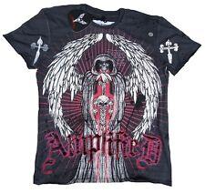 Estrás Amplified Saint&sinner Oscuro Segador Calavera Rock Star Vip Tattoo T