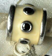 Authentic Pandora Enamel PROMISE RETIRED Charm Black czs Sterling 925 ALE