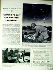 """WWII Jumpin""""DOCS""""Marines Squibb Medical Doctor~1944~AD"""