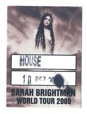 Sarah Brightman - World Tour - Konzert-Satin-Pass House 10.12.2000 Sammlerstück