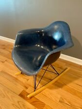Vintage Restored Eames - Herman Miller Fiberglass Rocking Chair Rare Royal Blue