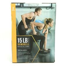 Cap 15lb Dumbbell Pair. Brand New. Fitness, Weight Lifting. Two 7.5lb Dumbbells