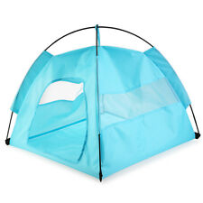 One-Touch Portable Folding Indoor Outdoor Waterproof  Large Dog House Tent Blue