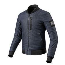 Blousons bleus textiles longueur hanches pour motocyclette