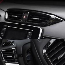 Carbon fiber look interior Side A/C Vent cover trim For Honda CRV CR-V 2017 2018