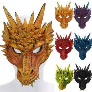 Halloween Dragon Head Mask Carnival Party Cosplay Fancy Dress Costume