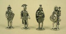 Four Roman Warrior Figures in Fine Pewter SPQR